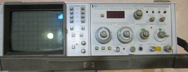 HP 8558B Spectrum Analyzer 100khz to 1.5 GHz