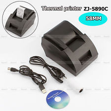 58MM POS/ESC Cash register USB thermal Printer Dot Receipt Print